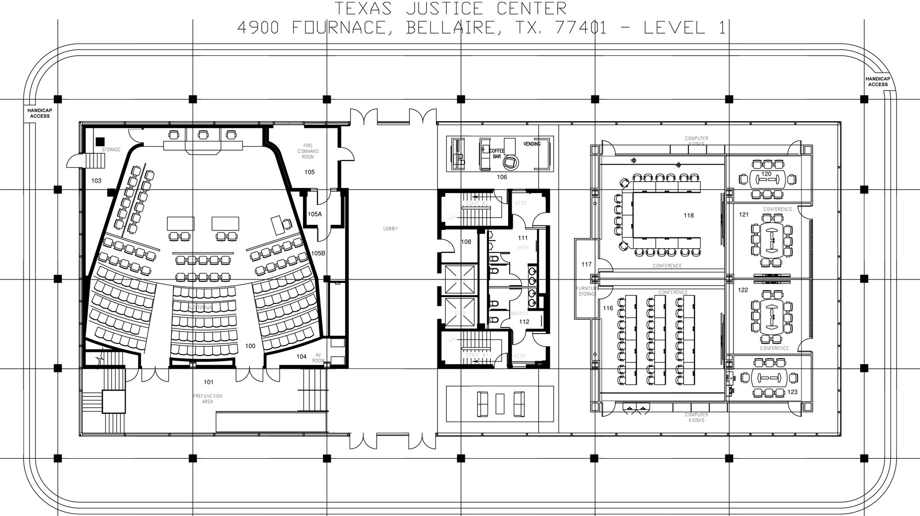 , Floor Plans, Texas Justice Center - Mediation Center & Arbitration Facility in Houston